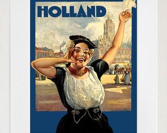 Holland Art Print Travel Poster Home Decor (ZT279)