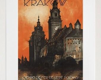 Poland Art Print Krakow Travel Poster Home Decor (ZT300)