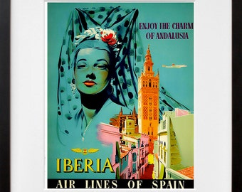 Andalusia Spain Art Travel Poster Spanish Print Home Decor (ZT369)