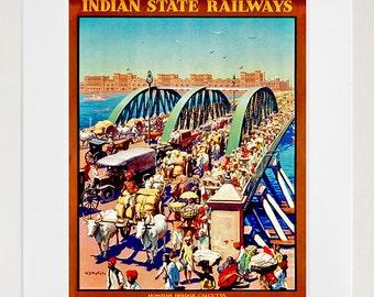 Art India Poster Vintage Travel Print Wall Decor (ZT401)