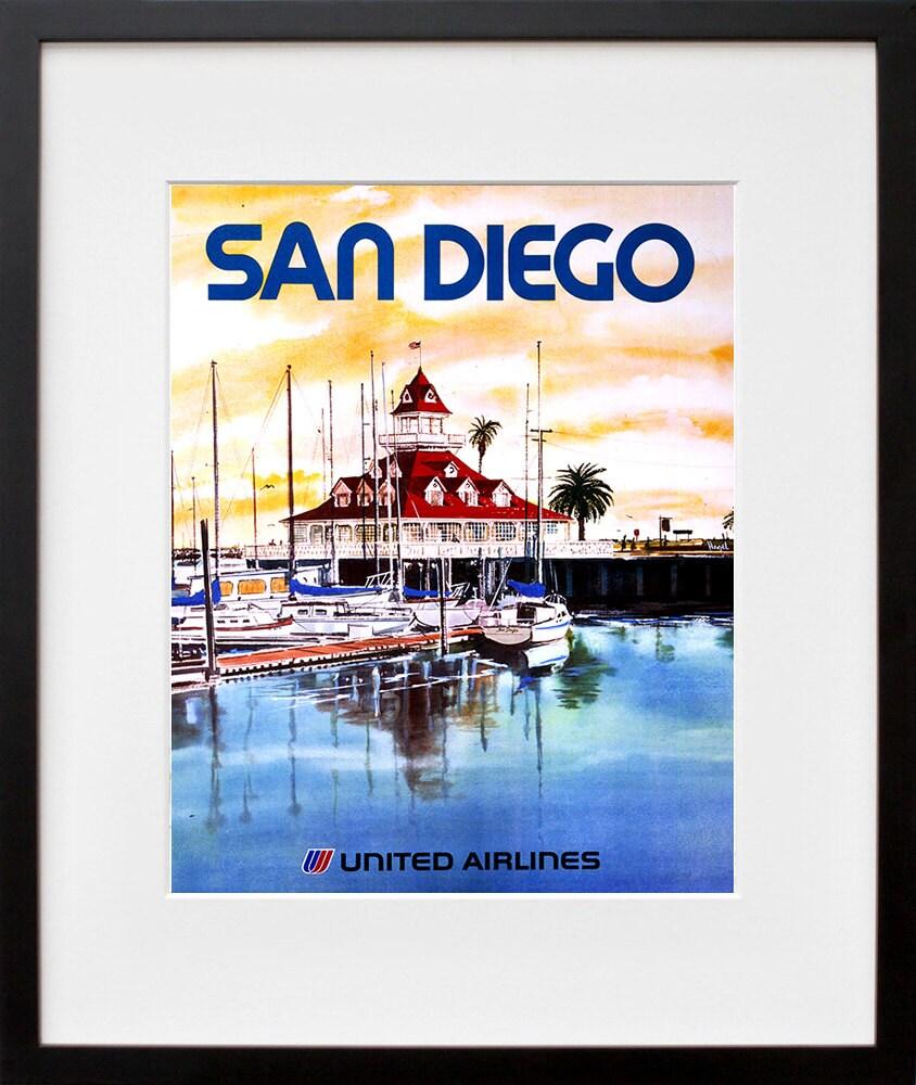 Home Decor San Diego: San Diego Poster Art Travel California Home Decor By
