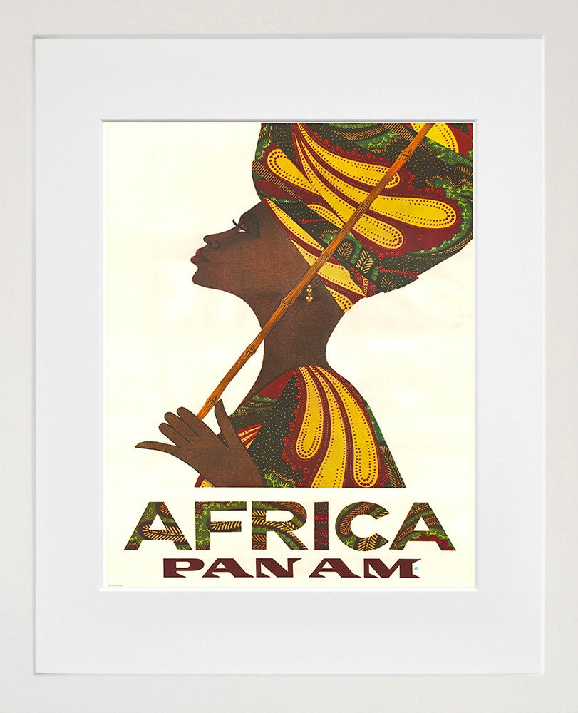 Africa art vintage travel poster print home african wall decor for African wall decoration