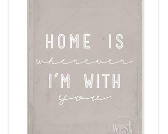 8x10 Home is Wherever I'm with You Print