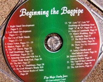 CD Beginning the Bagpipe by pipe major, Sandy Jones