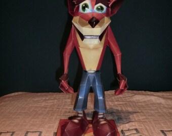 Handmade figure of Crash Bandicoot.