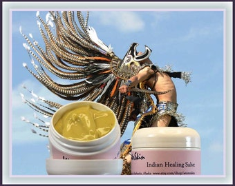 Native American Herbal Health Salve, with Comfrey, Plantain, Calendula, Yarrow, Rosemary Extracts