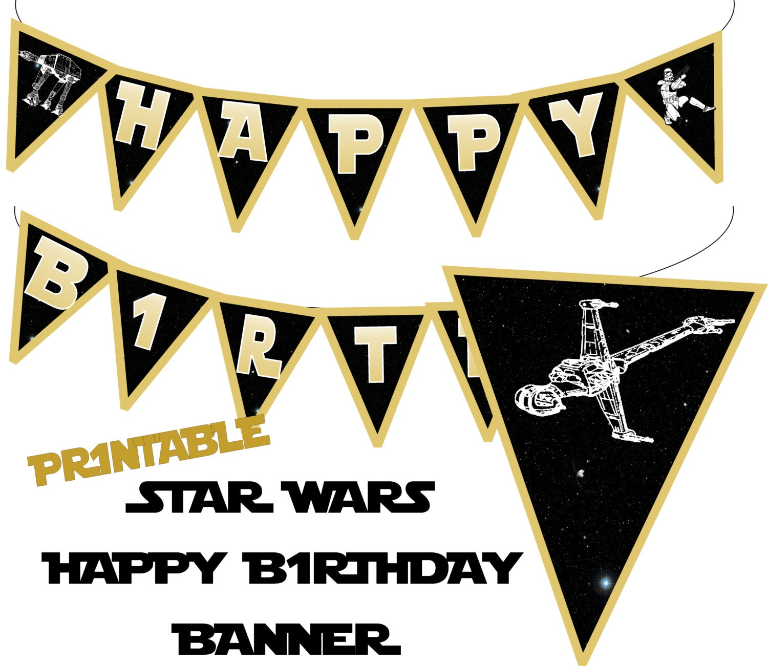 star wars banner star wars happy birthday banner star wars