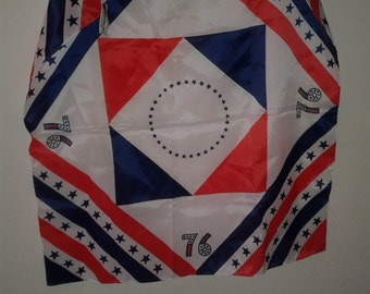 Stars and stripes Bicentennial headsquare/scarf