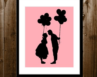 Custom Wedding Day Gift, Custom Couple Silhouette, Wedding Silhouette Portrait from your Photo, Wedding Gift, Custom Silhouette