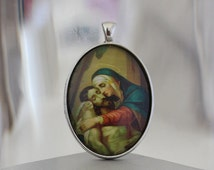 Sorrowful Mother / Our Lady of Sorrows Catholic Christian Medal Pendant Charm Cabochon / Gift