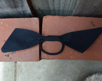 TOAG - large black modern bow tie