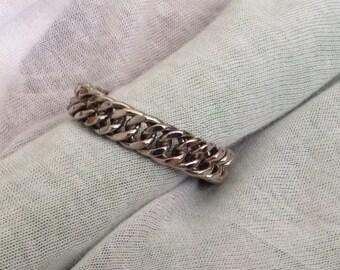Wow! Vintage Woven Metal Bracelet