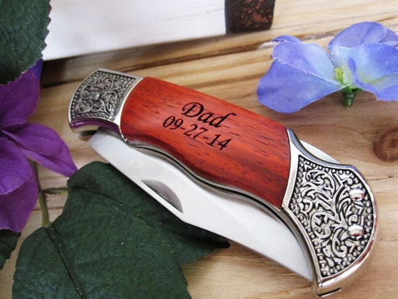 Knife - Groomsmen Wedding Gift Engraved Pocket Knife - Christmas Gift ...