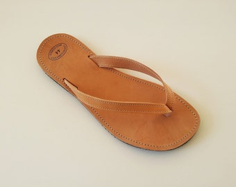 Women Leather Flip Flops - Greek Handmade Flip Flops
