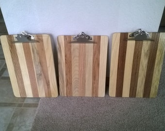 clipboard. Made from reclaimed wood.