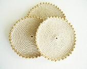 Crochet Coaster// Creamy Coaster/ Beige Coaster/ Handmade Coasters/ Furniture Protection/ Protect Futniture/ For Protect Furniture/ Coasters