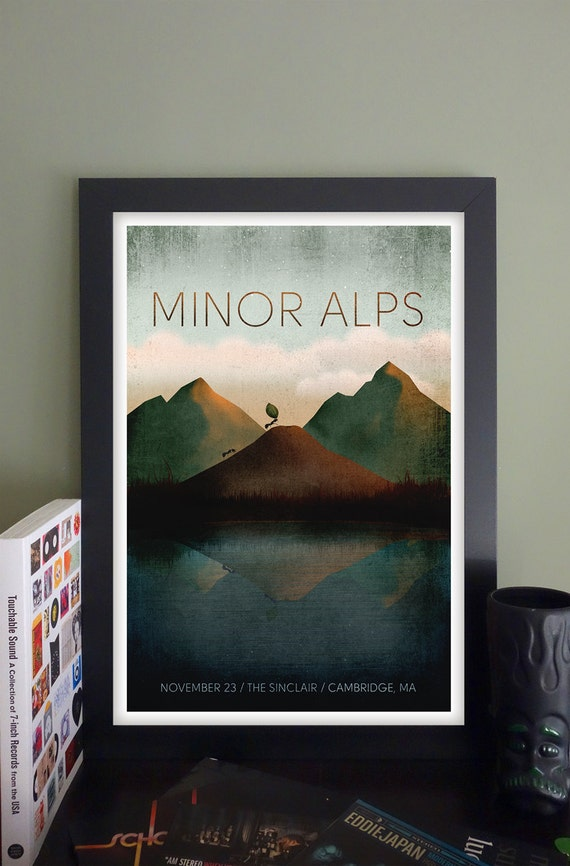 "Minor Alps Gig Poster // The Sinclair, Cambridge, MA 13"" x 19"""