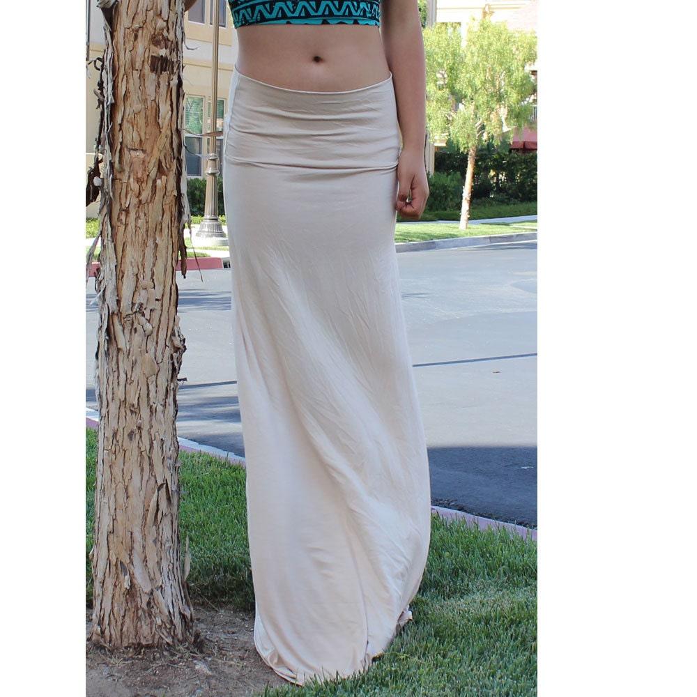 maxi skirt length skirt high waist fold