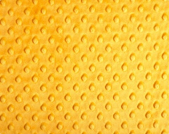 Mango Cuddle Minky Dot Fabric  (Shannon Fabrics) Yellow Orange Gold