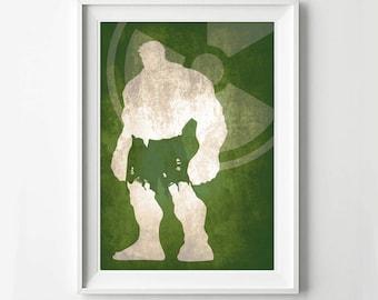 Hulk Avengers Poster - Movie poster, Minimalist print, Digital Art Print