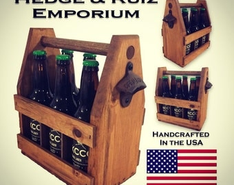 12 Wooden Beer Carrier Shipped