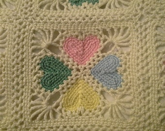 lacey hearts afghan