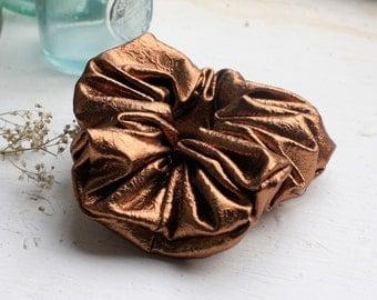 Metallic Scrunchie, Gold Scrunchie, Retro Scrunchie