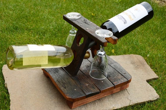 Items similar to wooden wine rack oak wood solid
