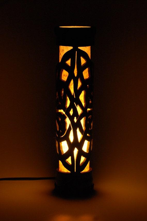 Lampe De Table En Bois Petite Lampe Decor Bambou Lampe De