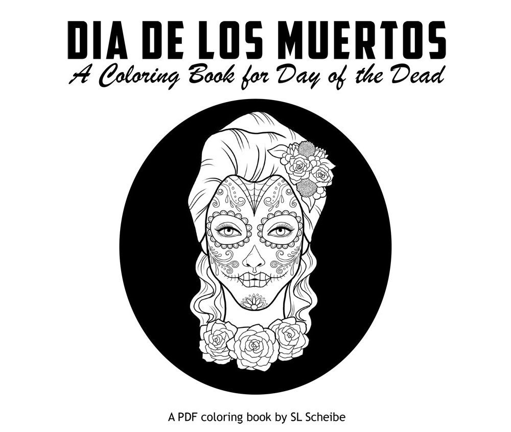 Day of The Dead Coloring Page Pdf Day of The Dead Pdf Coloring