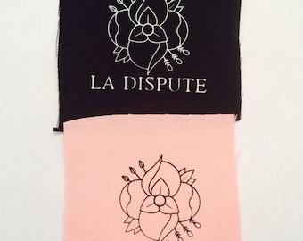 La Dispute Flower Punk Patch Band Logo Screen Print Canvas