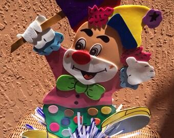 Clown circus Carnival centerpiece -  balloon weight