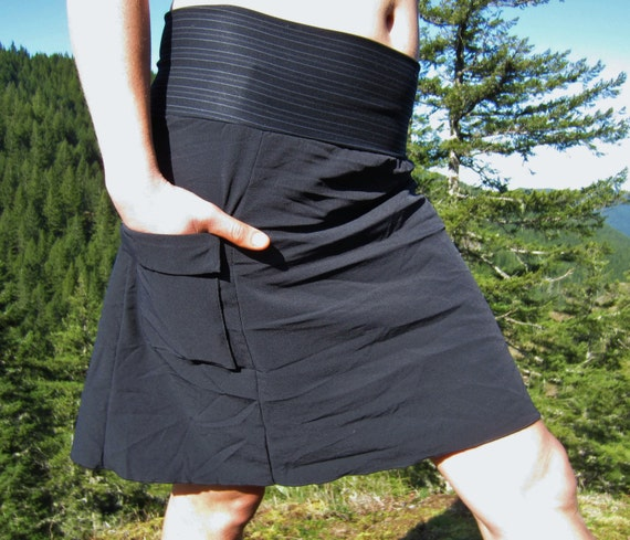 Activewear Hiking Skirt With Yoga-style Waistband And Side
