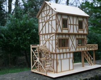 3mm Ply Wood wooden Tudor Water Mill