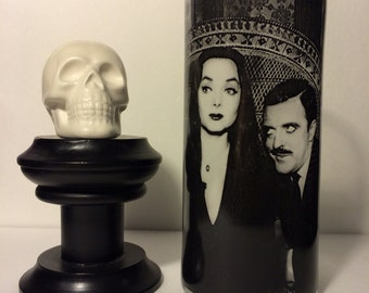 The Addams Family Morticia and Gomez Horror Vase Candle Holder