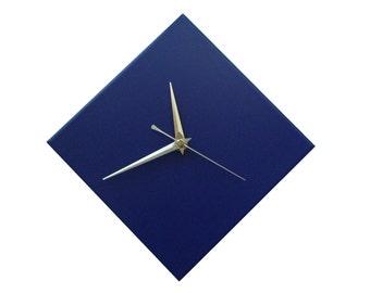 CLC Contemporary Cobalt Blue Diamond Wall Clock 20cm