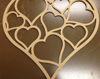 Heart Door Hanger, unfinished