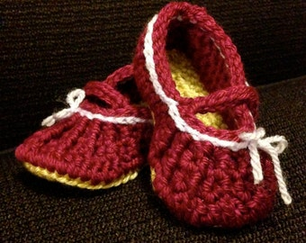 Baby Janes - hand crocheted mary jane shoes for baby