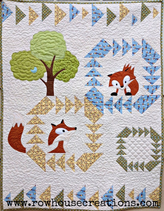 Fox in a Box baby quilt pattern