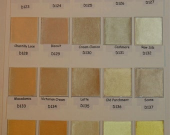 Satin COLOR CHARTS and FAQ