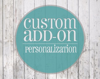 Custom Add-On Personalization