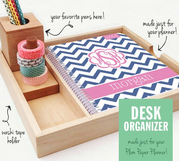 Desk Organizer for Your Planner, Pens, and Washi Tape