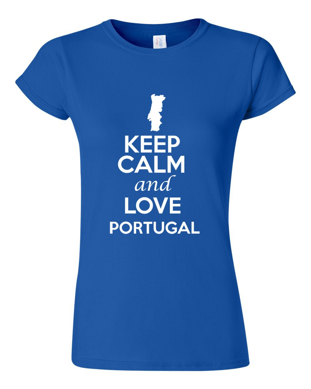 City Shirts Junior Keep Calm And Love Portugal Novelty Statement Graphic T-Shirt Tee 1043 at Sears.com