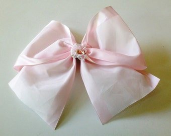 Large Pink Satin Bow