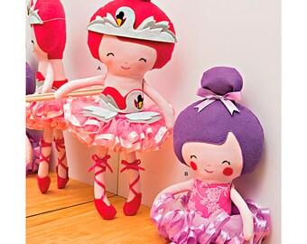 "Simplicity Sewing Pattern 1341 22 1/2"" Stuffed Ballerina Doll"