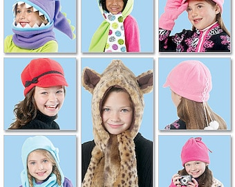 McCall's Sewing Pattern M6448 Children's/Girls' Hats, Beanies, Cowl and Mittens