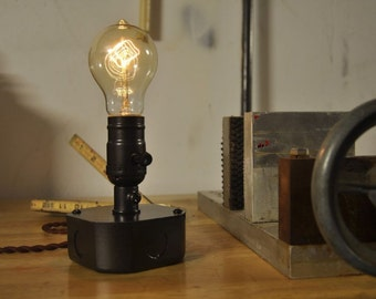 Industrial electrical box table lamp