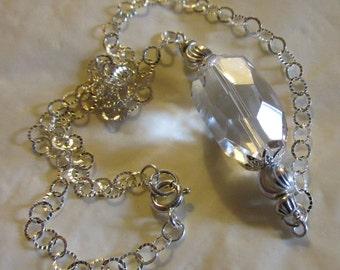 Sparkling Rock Crystal  Drop Necklace
