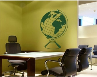 World Globe wall decal, sticker, mural, vinyl wall art