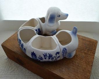 1940s Japan Dashund Porcelain Platter
